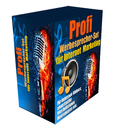 Profi Werbesprecher-Set für Internet Marketing